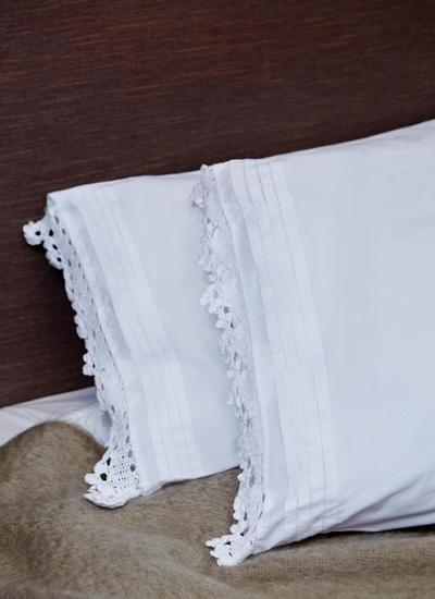 Linear Embroidered Housewife Pillowcases Set of 4
