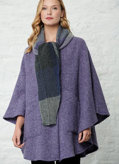 Lisa Kildare Violet Hooded Cape