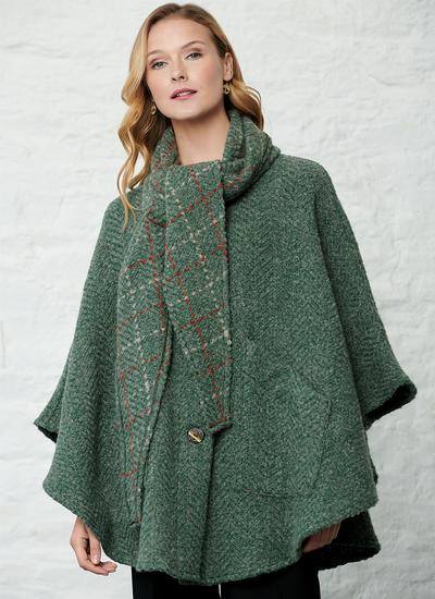 Lisa Loden Green Hooded Cape
