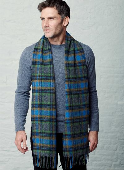 Long Lambswool Scarf Irish Check