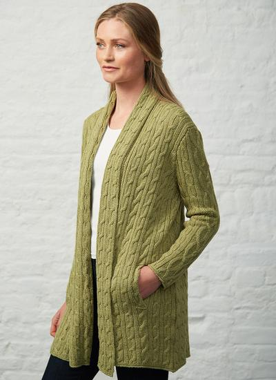 Mairead Lambswool & Cotton Cable Cardigan