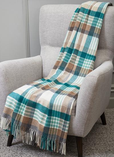 Melbourne Eucalyptus Lambswool Throw
