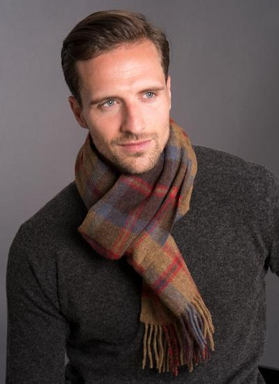 Lambswool Scarf Country Check
