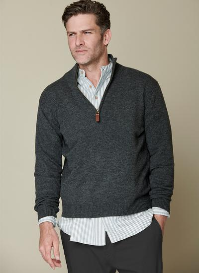 Lambswool Half Zip Sweater