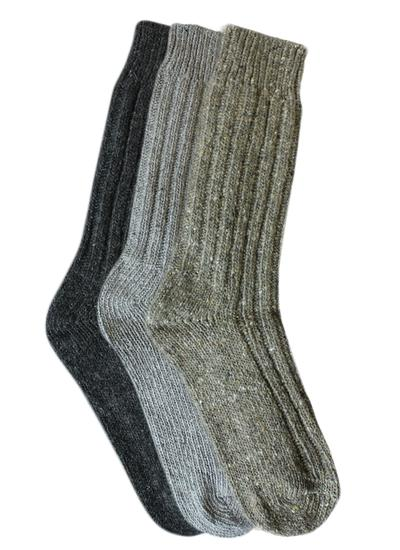 Set of 3 Men's Wool Socks