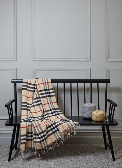 Modern Camel Thompson Lambswool Throw