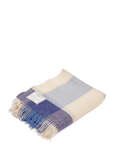 Munster Blue Lambswool Throw