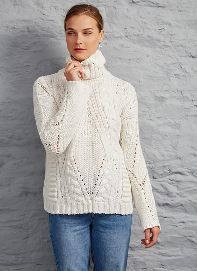 Niamh Aran Polo Neck Sweater