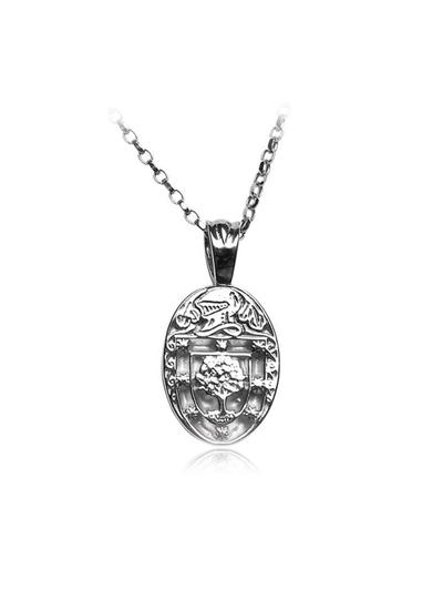 Personalized Oval Coat of Arms Family Pendant