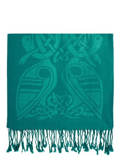 Wool Dynasty Green Celtic Scarf