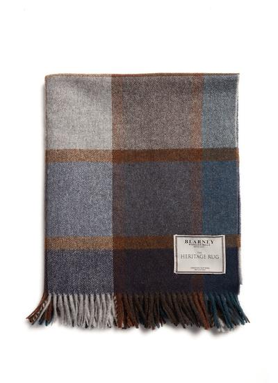 Pateley Blue Heritage Lambswool Throw