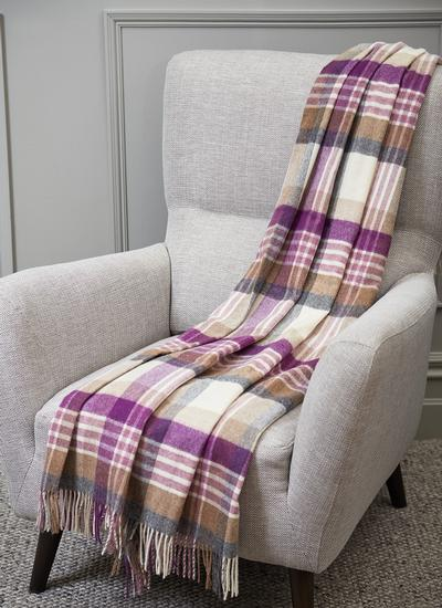 Purple Dreams Lambswool Throw