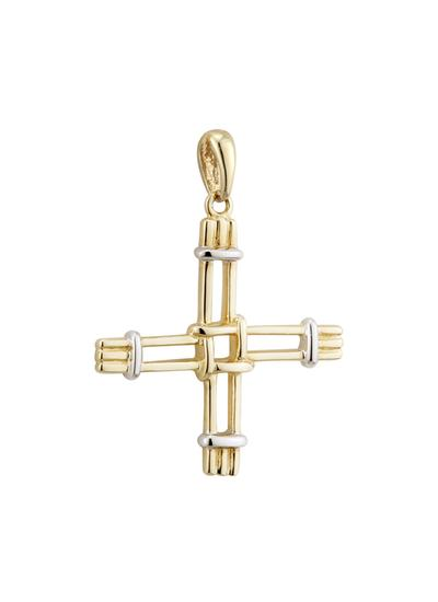 14K Gold St. Brigid's Cross Charm