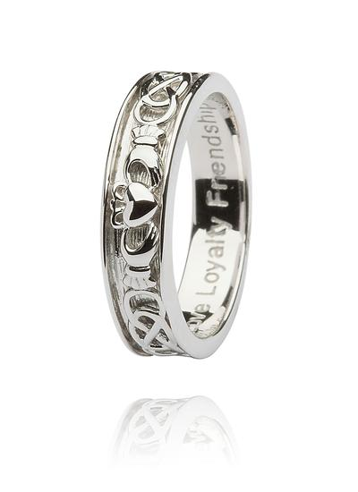 Sterling Silver Gents Corrib Claddagh Ring