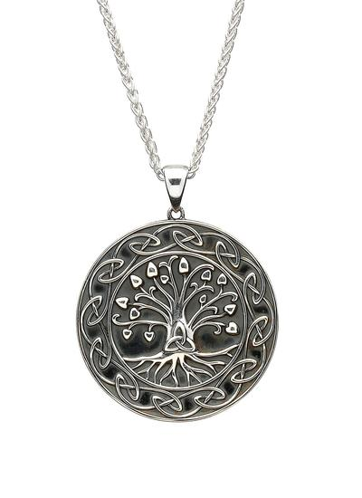 Tree of Life Trinity Medallion Pendant
