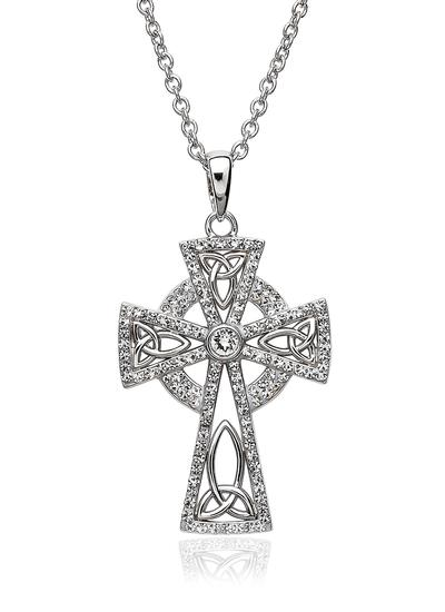 Celtic Cross Pendant Embellished With Swarovski Crystals