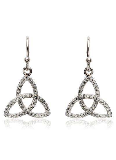 Trinity Knot Earrings Embellished With Swarovski Crystals