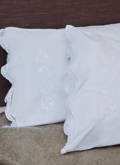 Shamrock Embroidered Housewife Pillowcases Set of 2