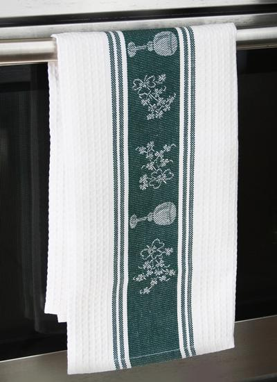Shamrock Waffle Kitchen Towels Set of 2