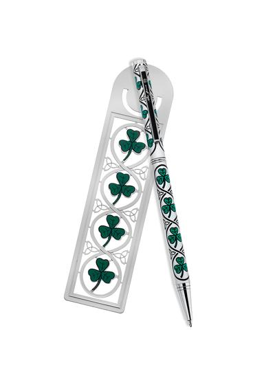 Shamrock Pen & Bookmark Set