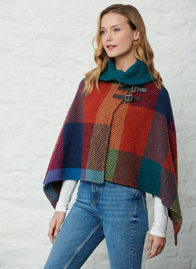 Shawl Collar Cape Donegal Red