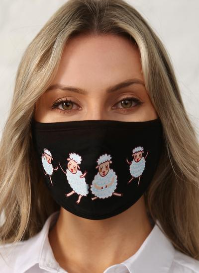 Sheep Double Layer Cotton Face Masks Set of 5