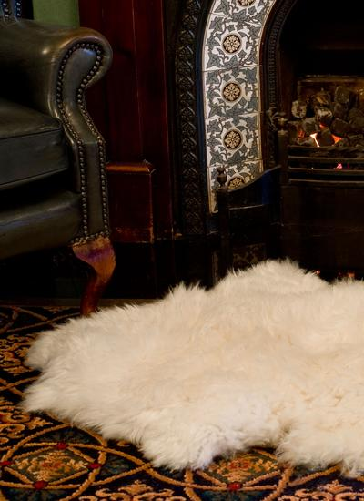 Irish Sheepskin Rug Double