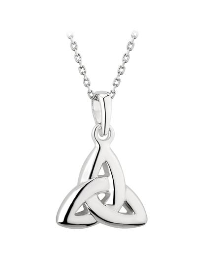 Sterling Silver Double Sided Trinity Knot Pendant