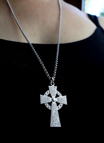 Sterling Silver Celtic Warrior Cross