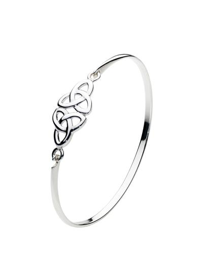 Sterling Silver Double Trinity Knot Bangle
