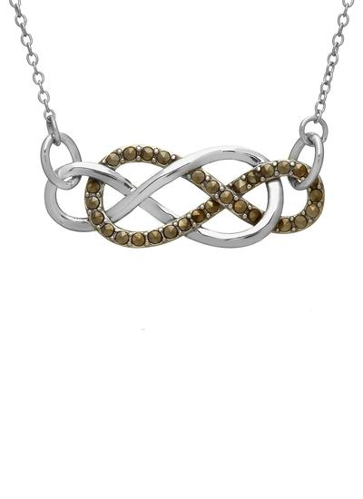 Sterling Silver Marcasite Infinity Knot Pendant