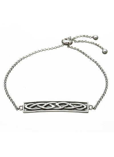 Sterling Silver Oxidized Celtic Knot Bracelet