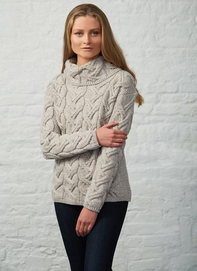 Supersoft Merino Wool Cowl Neck Sweater