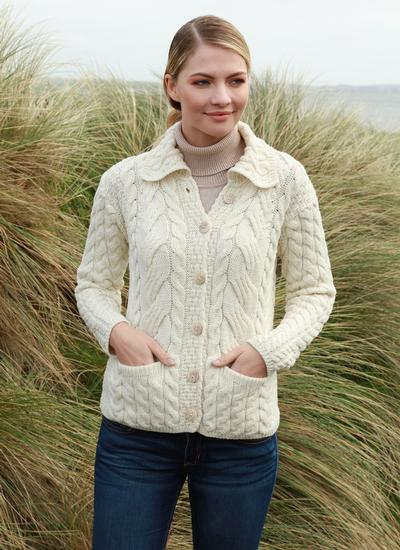 Supersoft Merino Wool Cable Cardigan