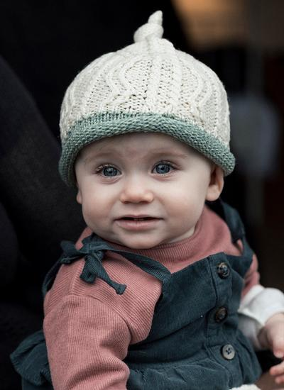 Supersoft Wool Baby Contrast Hat