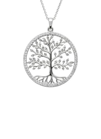 Tree of Life Pendant Adorned with Swarovski Crystals
