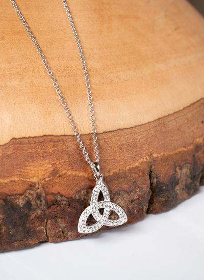 Trinity Knot Pendant Embellished with Swarovski Crystals