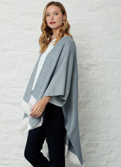 Tweed Denim Wrap