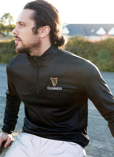 Unisex Guinness Zip Neck Performance Sweater