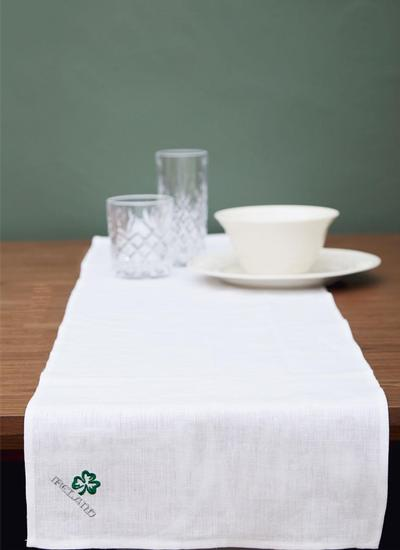 Blarney Irish Linen Embroidered Table Runner