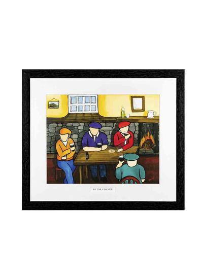 By The Fireside Framed Print
