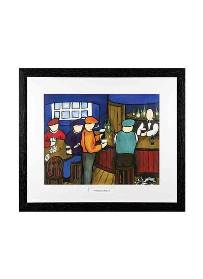 Poker Night Framed Print