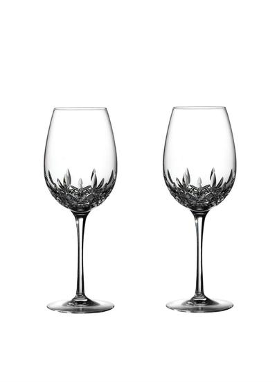 Waterford Crystal Lismore Essence Red Wine Goblet Pair