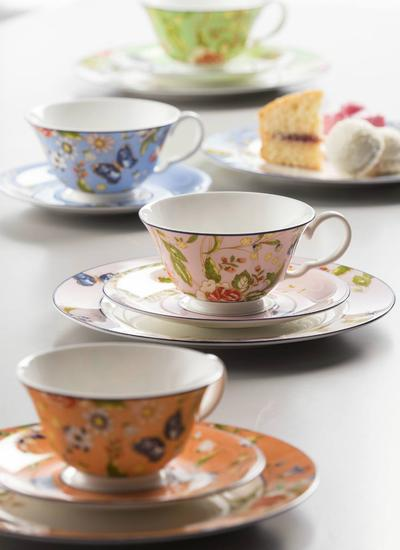 Cottage Garden Windsor Teacup & Saucer Set
