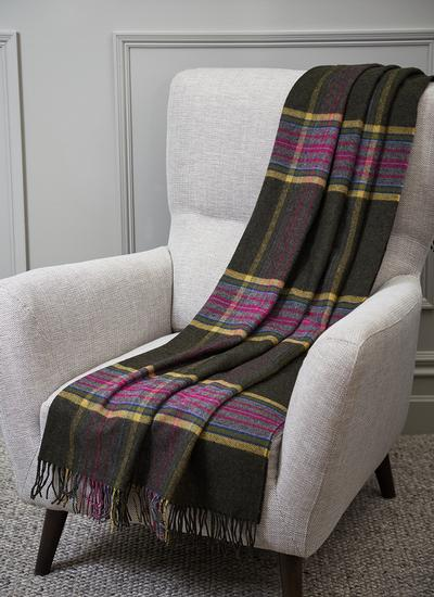 Winter Evenings Lambswool Throw