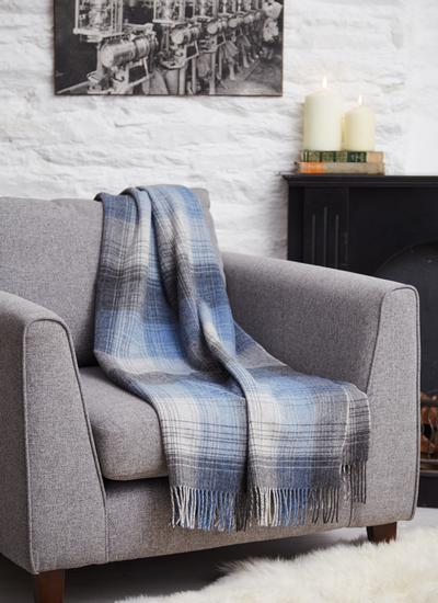 Winter Sky Lambswool Throw
