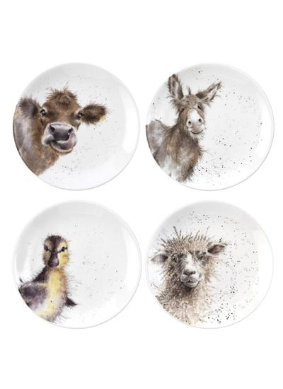Wrendale Designs Coupe Plates 6.5'' Set of 4