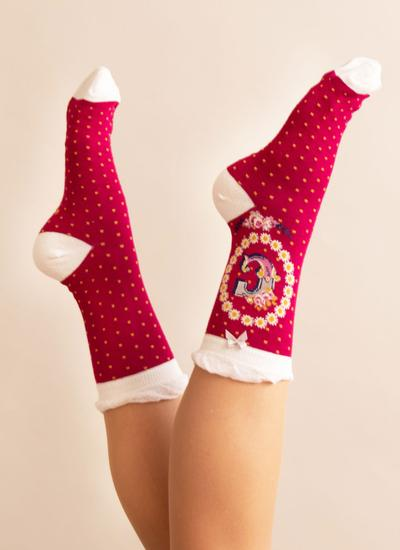 Set of 2 Ladies Alphabet Socks - C