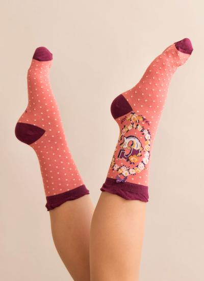 Set of 2 Ladies Alphabet Socks - G