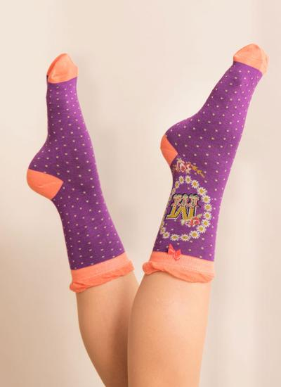 Set of 2 Ladies Alphabet Socks - M